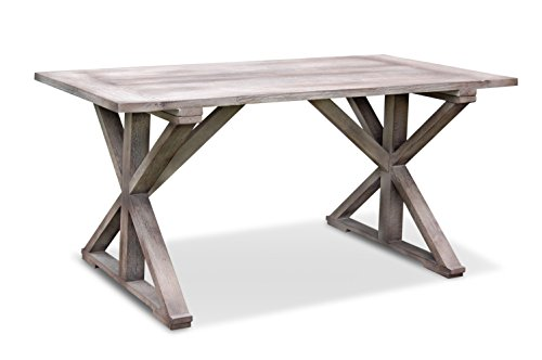 Crafted Home Decorative Meridian Rectangle Dining Table, 63'' Length by 29.5'' Width by 33.5'' Height, Gray by Crafted Home