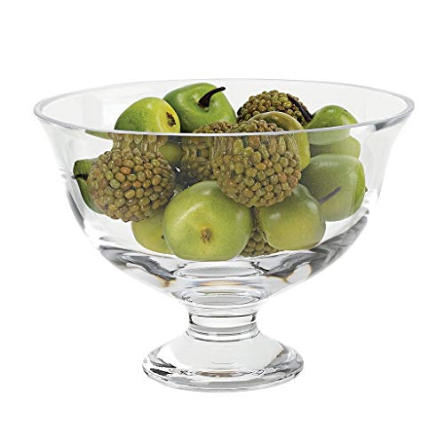 Badash - Monica European Mouth Blown Lead Free Crystal Footed Bowl D8.5 x H6.5 (Centerpiece Footed Bowl)