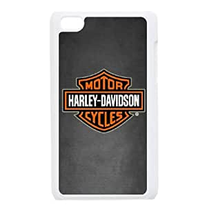 iPod Touch 4 Case White Harley Davidson JEM Customised Phone Cases