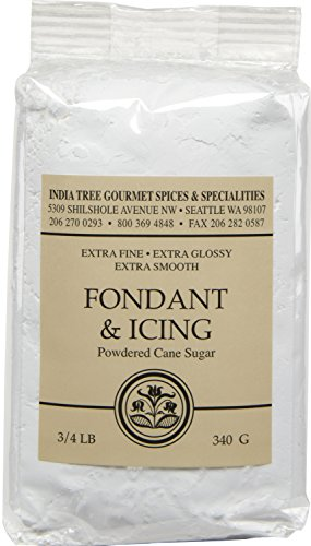 India Tree Fondant and Icing Sugar, 12 oz (Pack of 4) ()