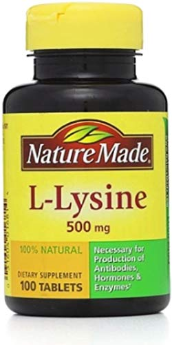 (Nature Made L-Lysine 500 mg Tablets 100 ea (Pack of)
