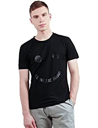 "<span class=""a-offscreen"">[Sponsored]</span>Allegra K Men Crew Neck Short Sleeves Smile Face Graphic Print Tee Shirt"
