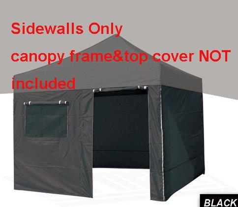 Eurmaxエンクロージャ壁キット10 x 10のPop Upキャノピー、アタッチbyベルクロ、キャノピーフレームとキャノピートップカバーは含まれていません B00GRRBSNS  ブラック