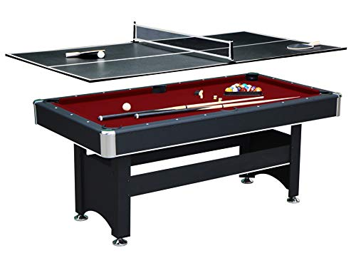 Hathaway Spartan 6′ Pool Table, 72″ L x 38″ W x 31″ H, Black For Sale