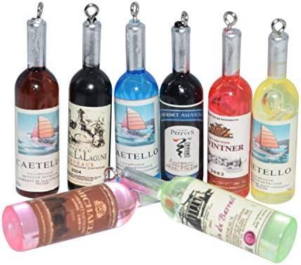 10pcs Dollhouse Miniature Wine Bottle Mini Decor accessories Toy RDR JC FG