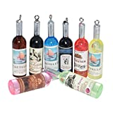 AMOBESTER Colourful Miniature Wine Bottles Dollhouse Kitchen Accessories 8Psc