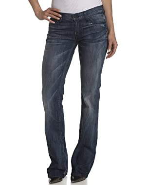 Women's Boot Cut Jean with Pieced Crystal