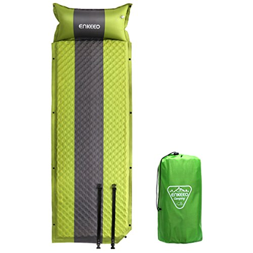 ENKEEO Self-inflating Sleeping Pad Lightweight Inflatable Camping Mat