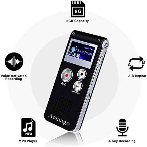 Recorder Activated Lectures Interviews Dictaphone product image