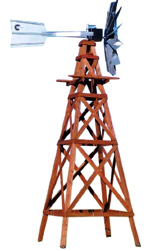 Pond American Kit (Outdoor Water Solutions WTW0182 Wood Windmill Kit)
