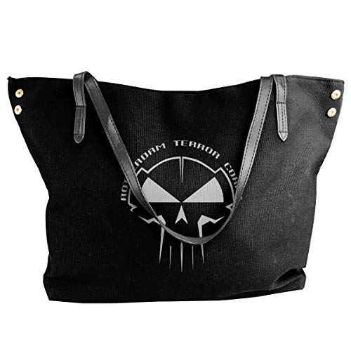 - Fashion Rotterdam Terror Corps Schwarz Hardstyle Gabba Hardcore Techno Shoulder Bag Canvas Handbags Tote Bag