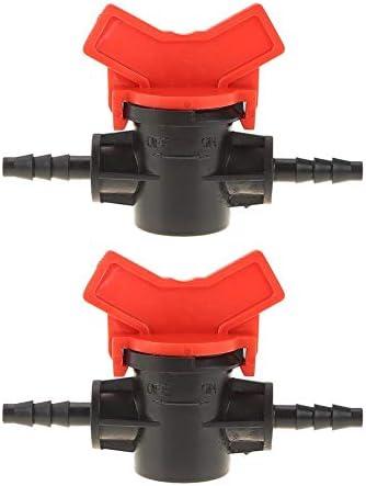Lindaeshop 2 stksset 47mm Koppeling Pijp Irrigatie Water Slang Schakelaar Valve Connectors
