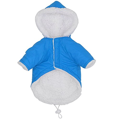 HuoGuo Winter Dog Clothes for Small Dogs Pet Puppy Chihuahua Quilted Dog Clothing Windproof Dog Coat Jacket Roupas Para S-XL Blue XL