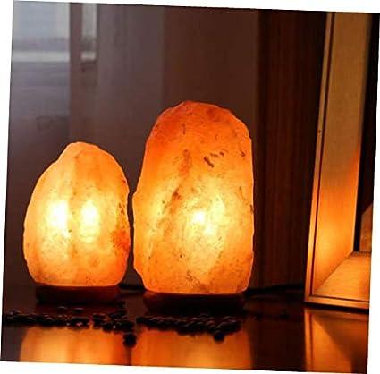 Amazon.com: Lámpara de sal del Himalaya tallada cuadrada 2.2 ...