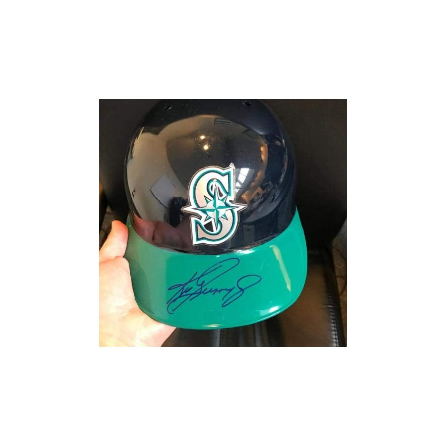 1990's Ken Griffey Jr. Signed Authentic Seattle Mariners Helmet COA Upper Deck Certified Autographed Hats
