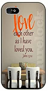 Diy For SamSung Galaxy S4 Case Cover Bible Verse - Love each other as I have loved you. John 15:12 - black plastic Verses, Inspirational and Motivational