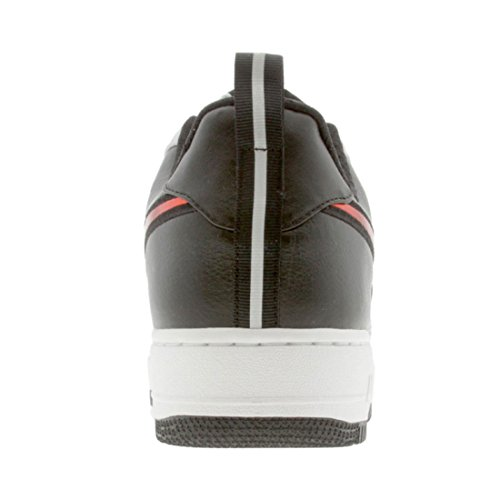 Nike Men's NIKE AIR FORCE 1 LOW PREMIUM BASKETBALL SHOES 10.5 (MET SILVER/VAR RED-BLACK) OeqQO1yn