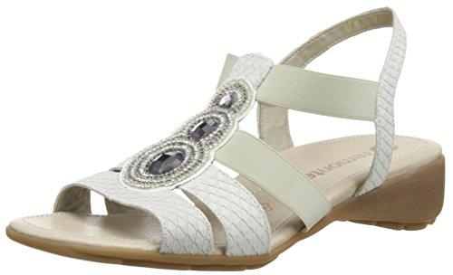 Remonte R5248 - Sandalias Mujer Blanco - Weiß (kreide/champignon/kreide / 80)