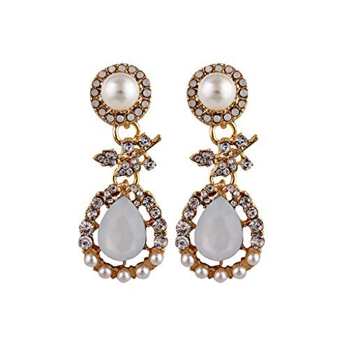 Women Bohemian National Wind Retro Rhinestone Ear Stud Earrings Jewelry Eardrop Gift Crystal Vintage Inspired Water Drop