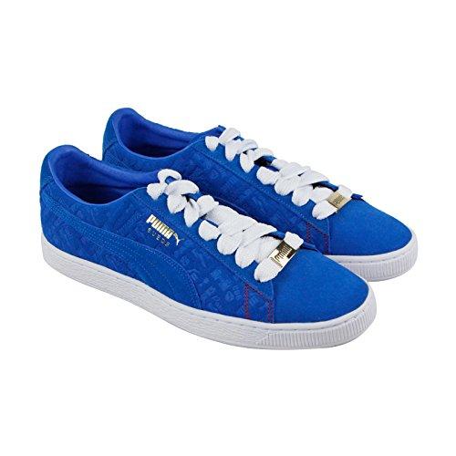 Paris Shoe Size - PUMA - Mens Suede Classic Paris Shoes, Size: 12 D(M) US, Color: Electric Blue Lemonade/Electric Blue Lemon
