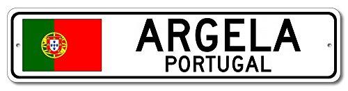 """The Lizton Sign Shop Argela, Portugal Aluminum Portuguese Flag Sign, Portugal Custom Flag Sign - 9""""x36"""""""