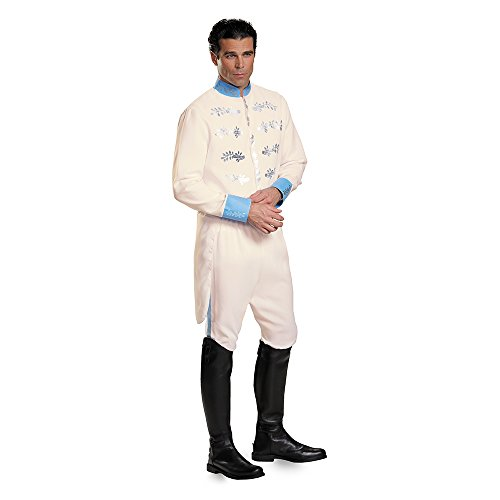 Disguise Men's Prince Movie Adult Deluxe Costume, White, (Prince Charming Costume Men)