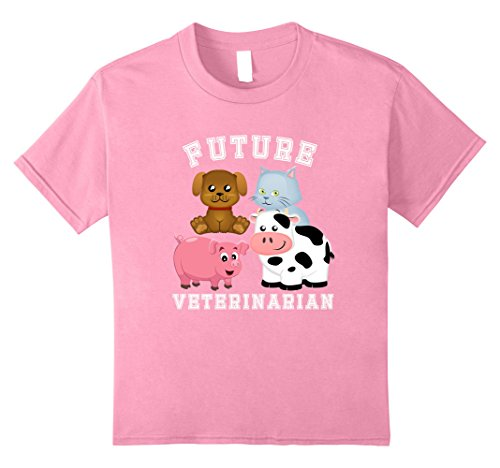 Make A Veterinarian Costume (Kids Future Veterinarian Costume T-Shirt for Adults and Kids 8 Pink)