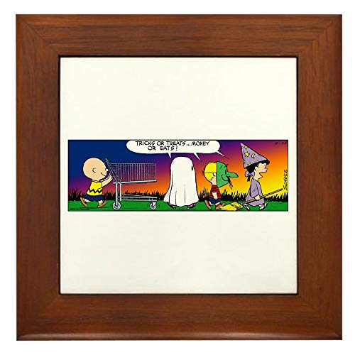 CafePress Tricks Or Treats Framed Tile, Decorative Tile Wall Hanging]()