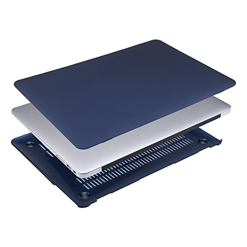 MOSISO Plastic Hard Shell Case & Keyboard Cover Compatible MacBook Air 11 Inch (Models: A1370 & A1465), Navy Blue by MOSISO (Image #4)