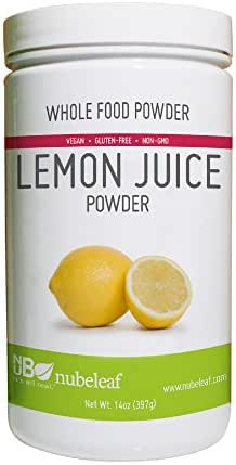 Nubeleaf Lemon Juice Powder - Non-GMO, Gluten-Free, Vegan Source of Antioxidants & Vitamin C - Nutrient Rich Superfood for Cooking, Baking, Smoothies (14oz)