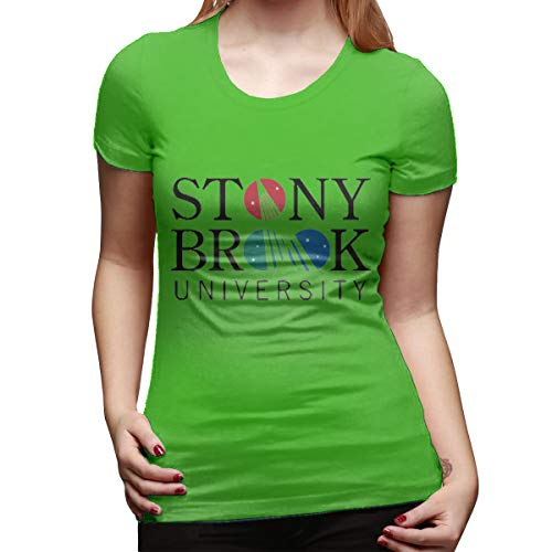 Arilce Basic T Shirt,Stony Brook University Tees Short Sleeve Round Blouse Green XXL ()