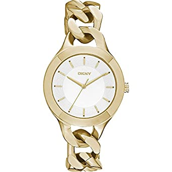 DKNY Damen-Armbanduhr Analog Quarz Edelstahl beschichtet NY2217