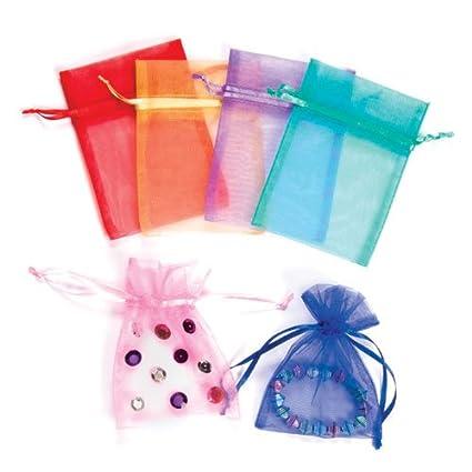 094985759ce8 Amazon.com: Baker Ross Mini Organza Fabric Drawstring Bags Party Bag ...