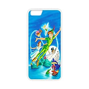 Peter Pan Design Solid Rubber Customized Cover Case for iPhone 6 plus 5.5 hjbrhga1544