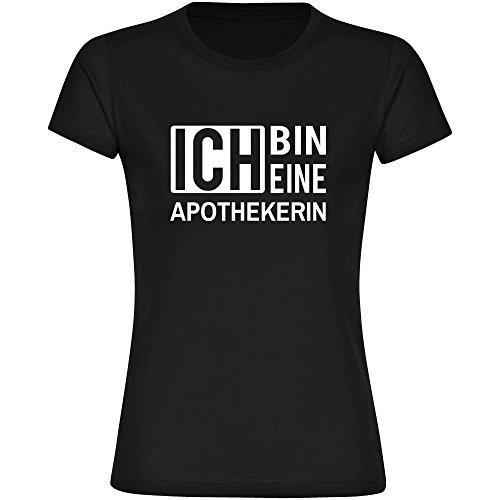 T-Shirt ich bin eine Apothekerin schwarz Damen Gr. S bis 2XL