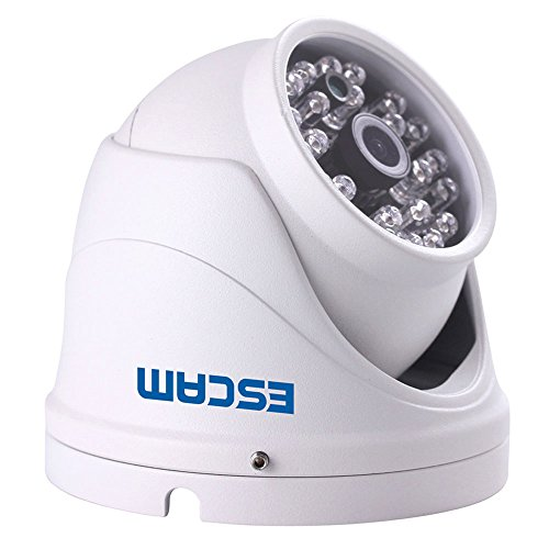 "Escam Security Dome Camera 1/4"" 1.0mp Cmos 720P 3.6mm Lens Waterproof Ip Surveillance Camera with 10m Night Vision,Support Phone Remote Monitoring"