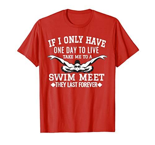 T-shirt Green Team Dad (Swim Swimmer Tshirt Funny Swimming Shirt Sport Practice Tee)