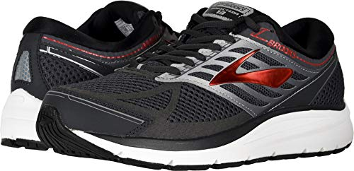 Brooks Men's Addiction 13 Ebony/Black/Red 11 EEEE US 4E - Extra Wide