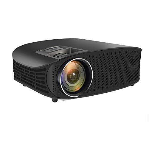 YSCCSY HD-Projektor-Kabel-Sync-Anzeige-Video-HDMI-Full-HD-TV-Heimkino-Multi-Screen-3D-LED-Projektor-Beamer,Black