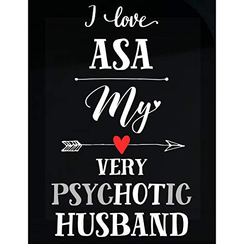 Inked Creatively I Love ASA My Very Psychotic Husband Gift for Her - Sticker