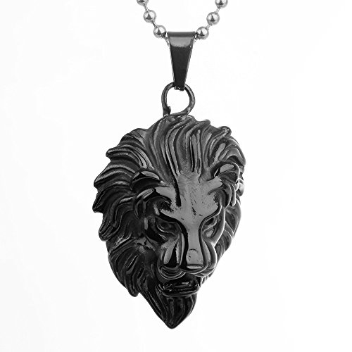 COPAUL Jewelry Mens Stainless Steel Lion Style Pendant