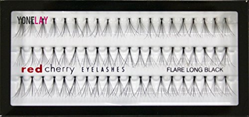 Red Cherry Flare Long Individual Lashes, Black (Pack of 6)
