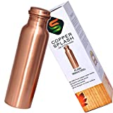 Copper Splash-Copper Water Bottle Large-Leak Proof Ayurvedic Pure Copper Vessel for drinking water-Enjoy the Ayurvedic Health Benefits