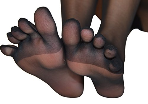 Thalia - Sheer Toe Glove Pantyhose PEEP TOE PANTYHOSE (Black) -