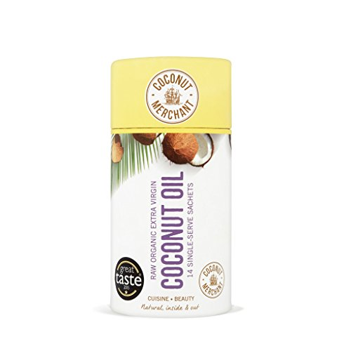 Coconut Merchant Natural Teeth Whitening Organic Raw Coconut Oil Pulling - Sachet Tube (14x 10ml)