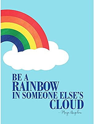 Amazoncom Wee Blue Coo Quote Maya Angelou Be A Rainbow Unframed