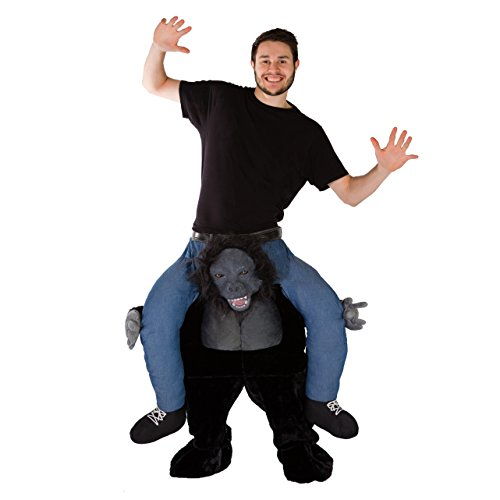 Bodysocks Adult Stuffed Carry On Gorilla Fancy Dress -