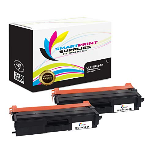Smart Print Supplies Compatible TN436 TN436BK Super High Yield Toner Cartridge Replacement for Brother HL-L8260CDW L8360CDW, MFC-L8900CDW L9750CDW L9750CDW Printers (6,500 Pages) - 2 Pack -  SPS-TN436-2PKBK