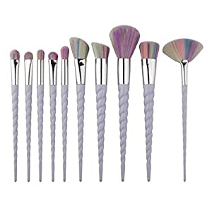 OVERMAL 10PCS Make Up Foundation Eyebrow Eyeliner Blush Cosmetic Concealer Brushes
