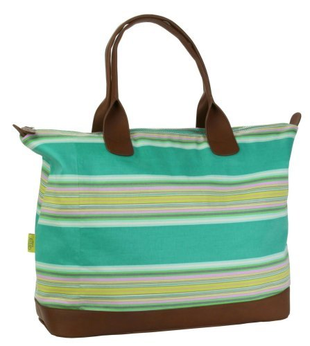 Amy Butler for Kalencom Marni Duffle Bag without Ribbon - Flatweave Stripe Emerald